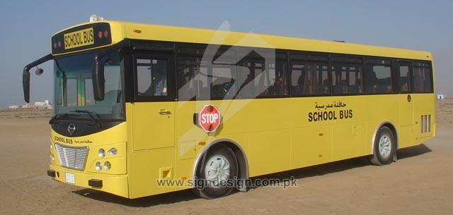 School Bus Vinyl Lettering