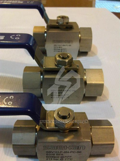 Laser Marking on Valves