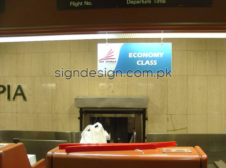 Airindus Jinnah Terminal Economy Counter Sign