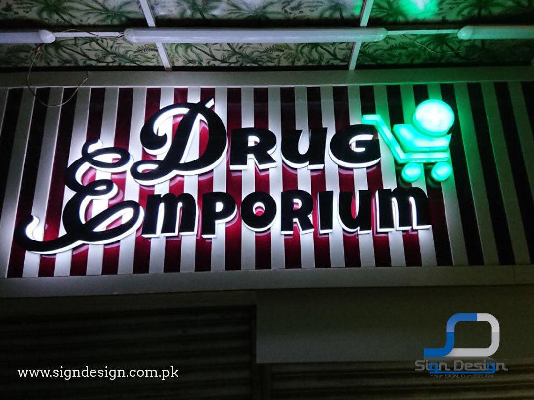 Drug Emporium 3D Shop Signage