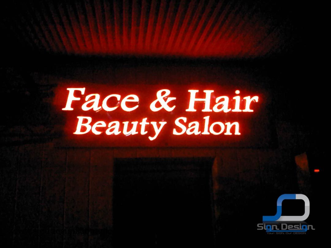 Face and Hair 3D Signage