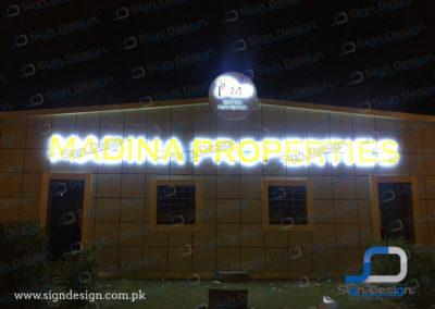 Madina Properties 3D Sign
