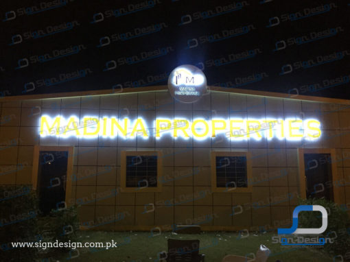 Madina Properties 3D Sign
