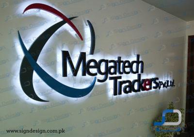 Megatech Trackers 3D Backlit MS Sign