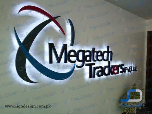 Megatech Trackers 3D Backlit MS Sign