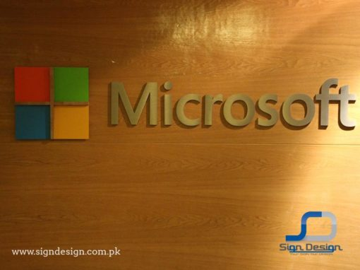 Microsoft SS Letters Wall Mount Sign