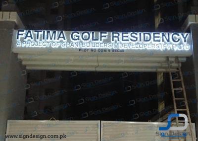 Fatima Golf Residency Signage