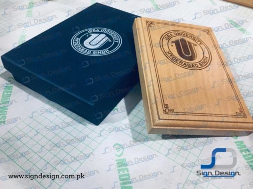Isra University Hyderabad Wooden Laser Engraved Plaques